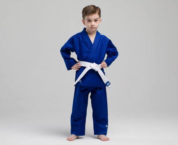 десткое кимоно для дзюдо синее адидас 1