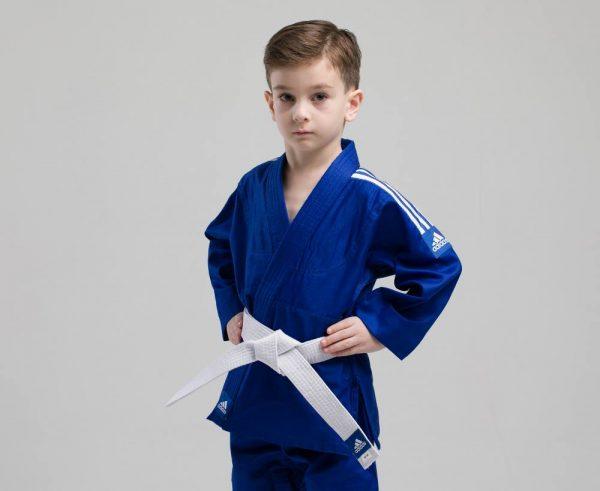 десткое кимоно для дзюдо синее адидас 3