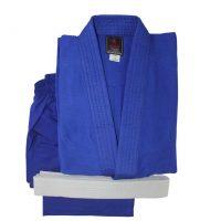 JD0022 Кимоно для дзюдо CLUB BLUE синее с поясом KHAN
