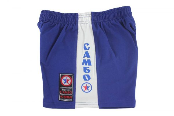 шорты самбо ВФС хлопок синие