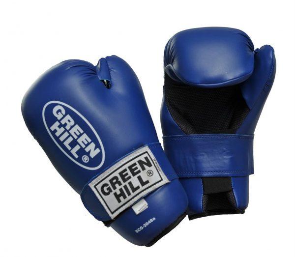 Перчатки для таэквондо ИТФ и кикбоксинга полуконтакт Green Hill 7-contact