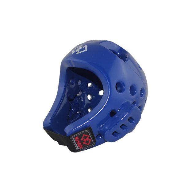 Шлем для тхэквондо и единоборств Khan Club (красный / синий / белый)