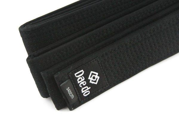 пояс тхэквондо черный с вышивкой daedo 1