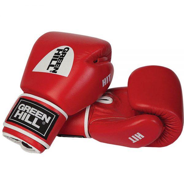 Перчатки боксерские Green Hill Hit, натуральная кожа