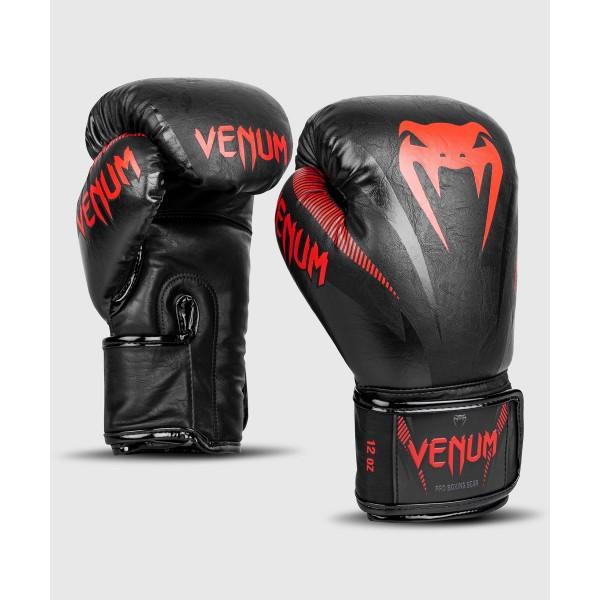 02903 Перчатки боксерские Venum Impact Black/Red