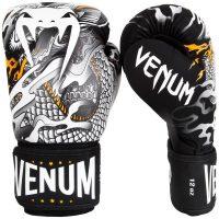 Боксерские перчатки Venum Dragon's Flight Black/White