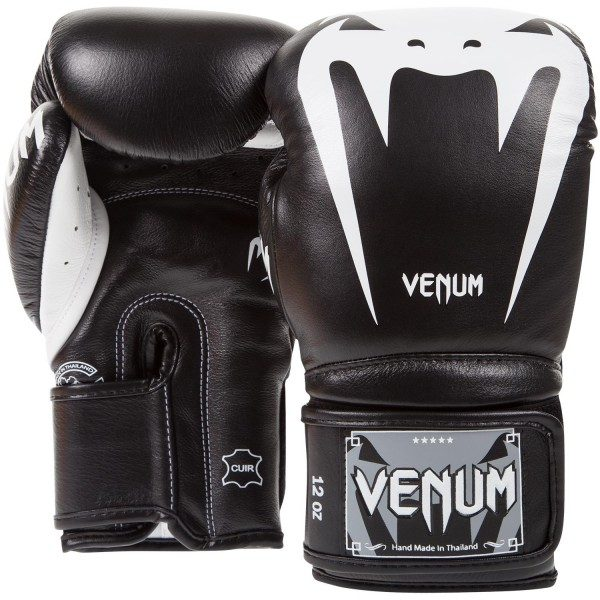 Перчатки боксерские Venum Giant 3.0 Black Nappa Leather