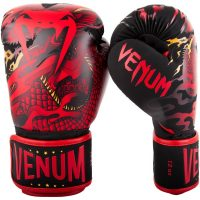 Боксерские перчатки Venum Dragon's Flight Black/Red