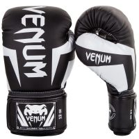 Боксерские перчатки Venum Elite Black/White