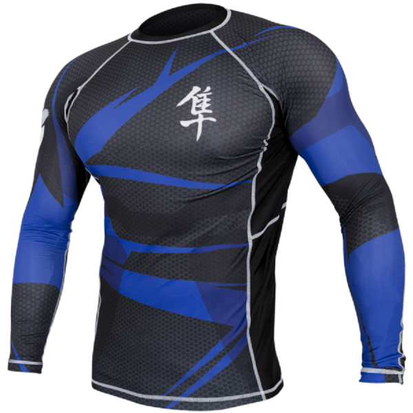 Рашгард Hayabusa Metaru Black/Blue L/S