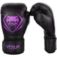 Перчатки боксерские Venum Contender Black/Purple