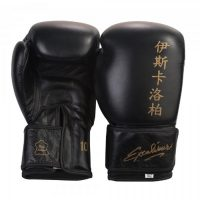 Перчатки боксерские Excalibur 572 Black Буйволиная кожа