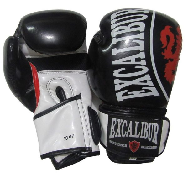 Перчатки боксерские Excalibur 8004-03 Black/White PU