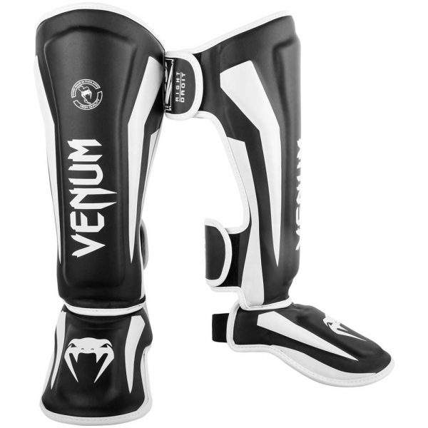 Щитки Venum Elite Black/White