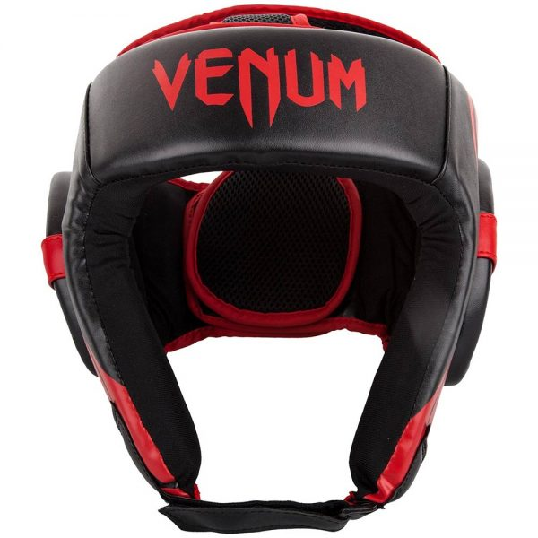 Шлем боксерский Venum Challenger 2.0 Open Face Neo Black/Red