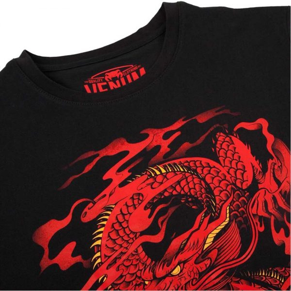 Футболка Venum Dragon's Flight Black/Red