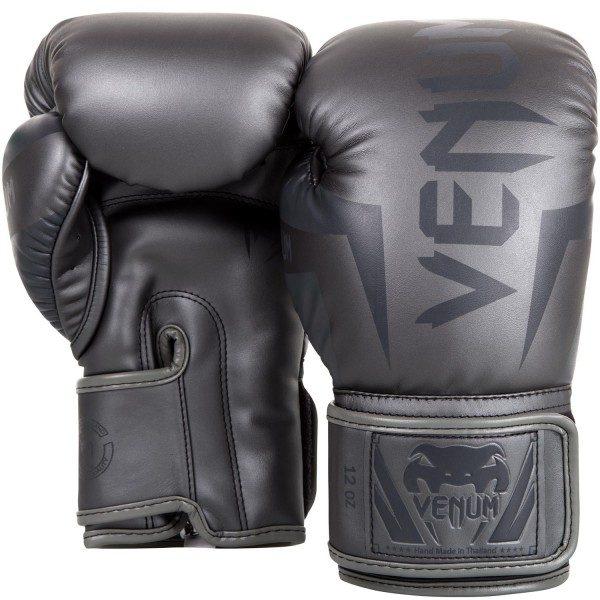 Перчатки боксерские Venum Elite Grey/Grey