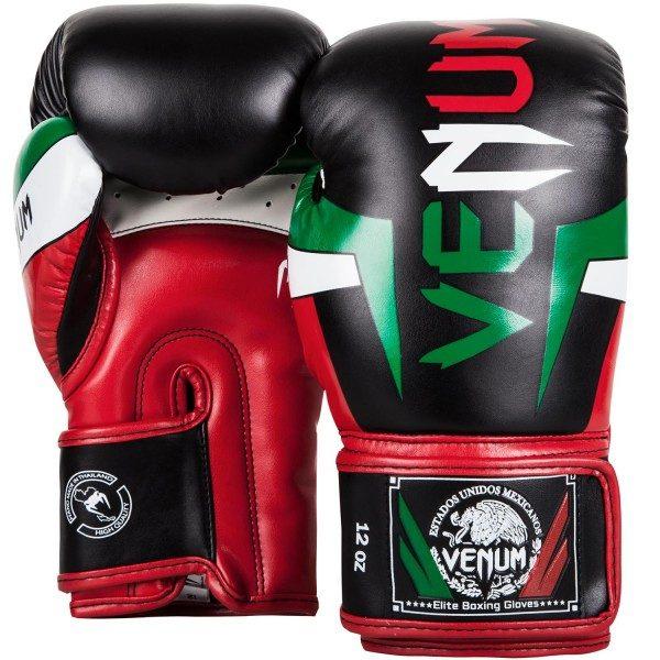 Боксерские перчатки Venum Elite Mexique Black