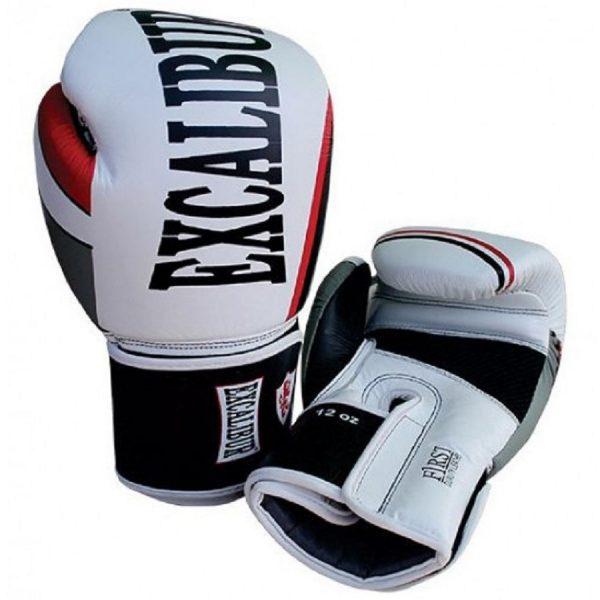 Перчатки боксерские Excalibur 8001-02 White/Black Buffalo