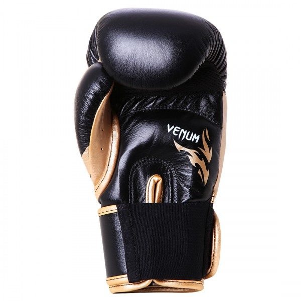 Боксерские перчатки Venum Tribal Boxing Gloves - Black/Gold - Nappa leather