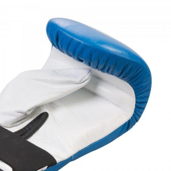 Перчатки боксерские Excalibur 603/02 Буйволиная кожа Leather - Blue/Ice