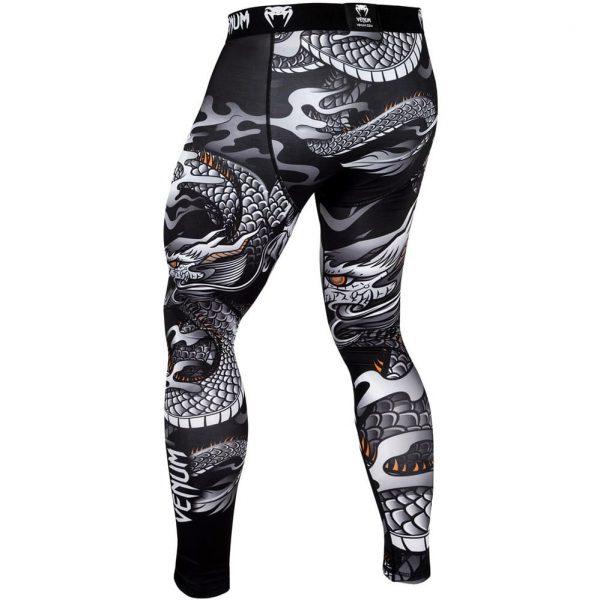 Компрессионные штаны Venum Dragon's Flight Black/White