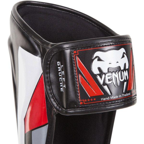 Щитки Venum Elite Black/Red/Grey