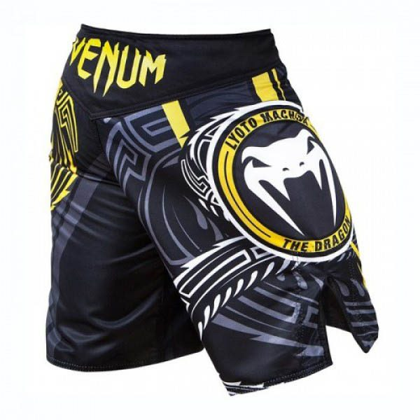 Шорты ММА Venum Lyoto Machida Ryujin Black/Yellow