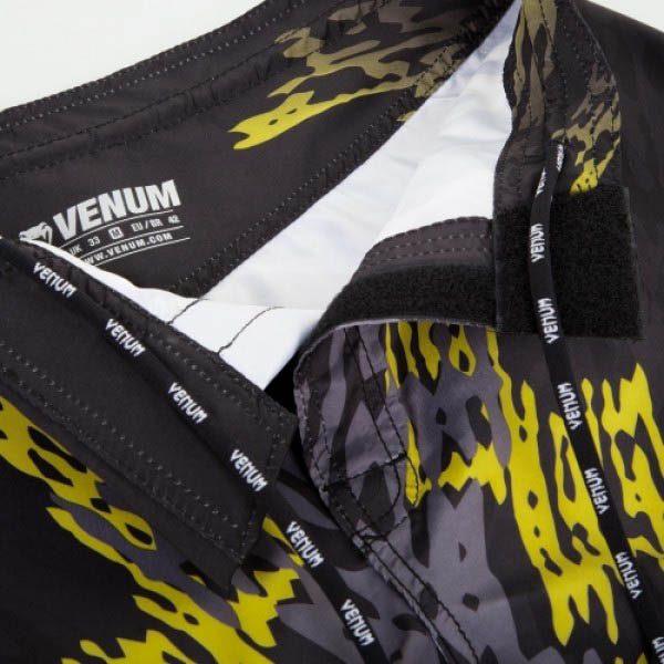 Шорты ММА Venum Neo Camo Black/Grey/Yellow