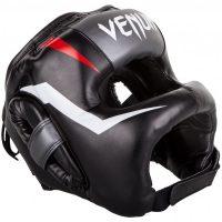 Шлем боксерский Venum Elite Iron Fluo Black - шлем Венум с бампером