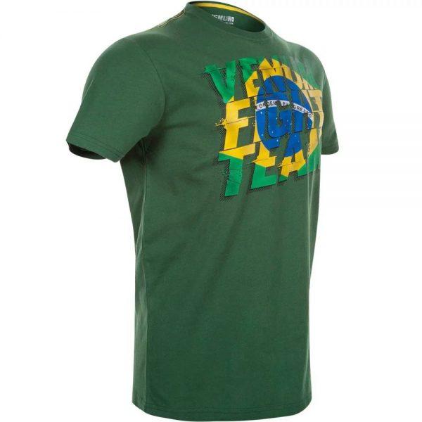 Футболка Venum Brazilian Flag Green