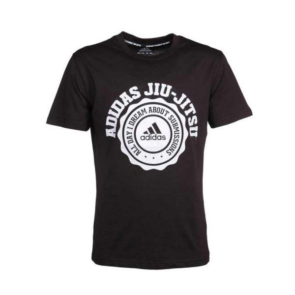 Футболка Leisure All Day Tee Jiu-Jitsu черная ADIDAS