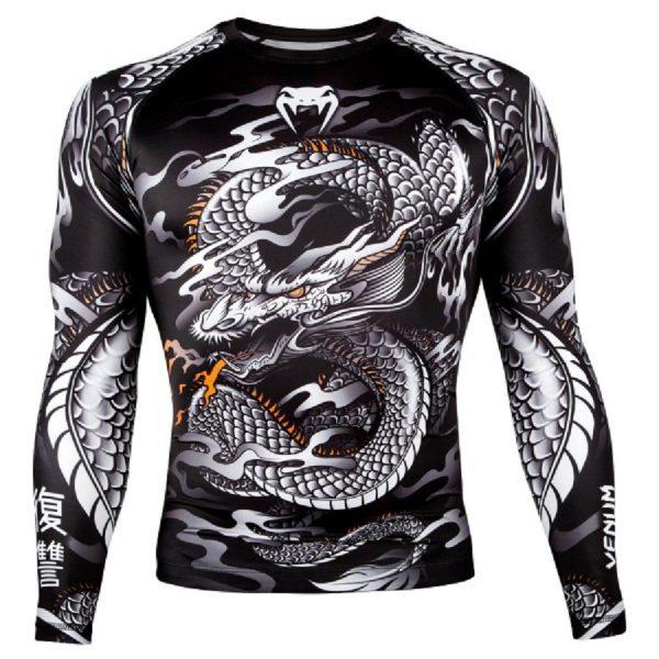 Рашгард Venum Dragon's Flight Black/White L/S