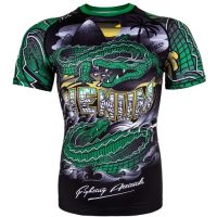 Рашгард Venum Crocodile Black/Green S/S