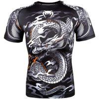 Рашгард Venum Dragon's Flight Black/White S/S