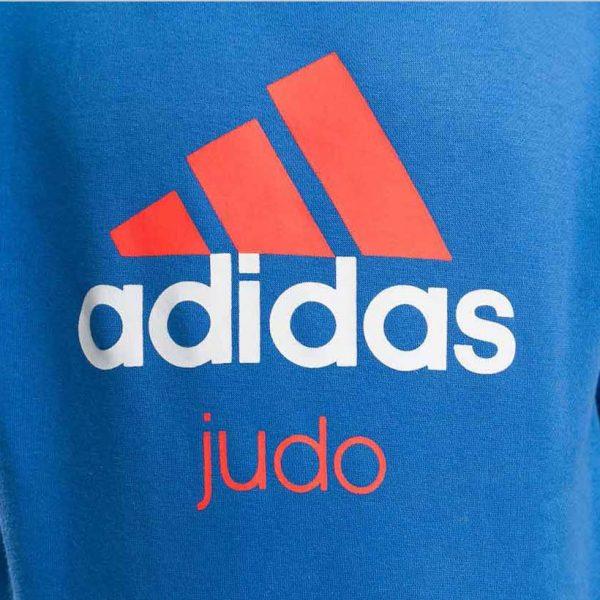 Толстовка с капюшоном (Худи) детская Community Hoody Judo Kids сине-оранжевая ADIDAS
