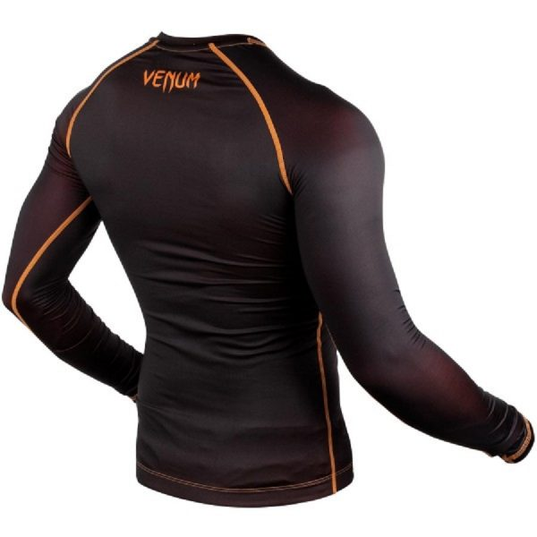 Рашгард Venum Contender 3.0 Black/Orange L/S