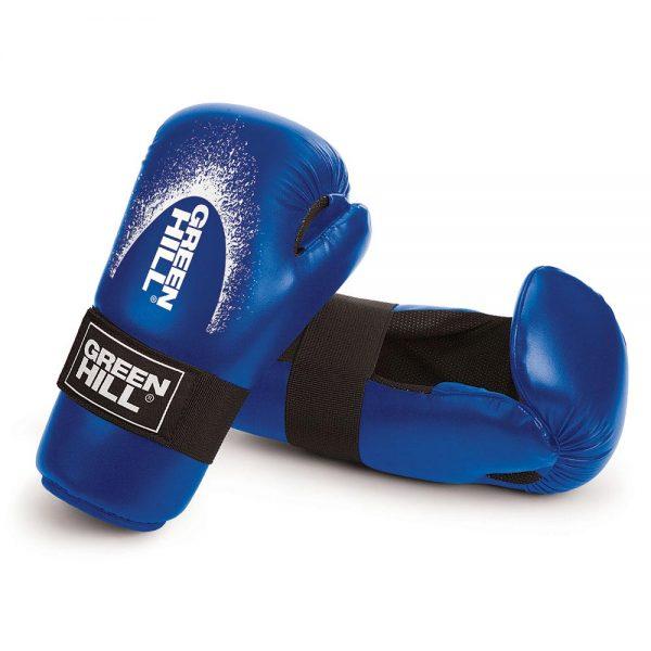 Перчатки для тхэквондо ITF и кикбоксинга детские 7-contact Kids NEW Green Hill (красные / синие)