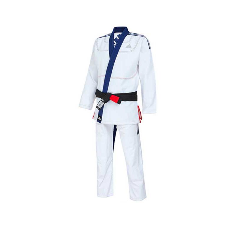 finest selection 1eb72 4d3e5 Кимоно для джиу-джитсу Limited Edition бело-синее ADIDAS