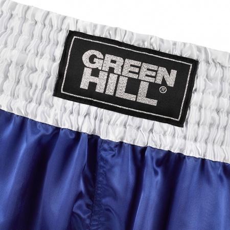 KBSF-3746 Трусы для кикбоксинга Fighter Green Hill красные/синие/черные