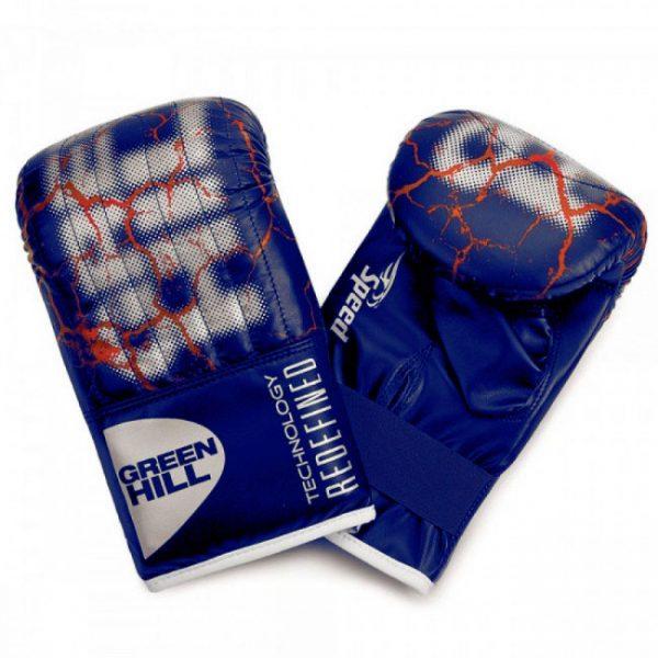 Перчатки снарядные SPEED иск.кожа, синие, Green Hill