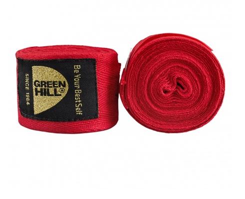 BC-6235 Боксёрские бинты хлопок красные/синие/черные Green Hill