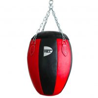 WLB-805B Боксерская груша 60*40*20 50кг натуральная кожа красно-черный Green Hill
