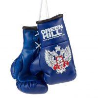 AG-1008 Сувенирные боксерские перчатки Федерация Бокса России синие Green Hill
