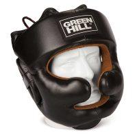 HGL-9049 Боксёрский шлем LUX черный green hill