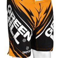 MMi-3922w Шорты для MMA IMMAF approved женские золотистые Green Hill