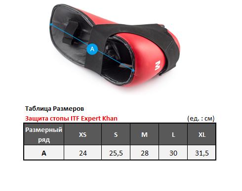 KIFGE005 Защита стопы для тхэквондо ITF Expert синяя/красная KHAN