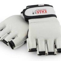 WGG-346RB Перчатки MMA белые натуральная кожа KHAN