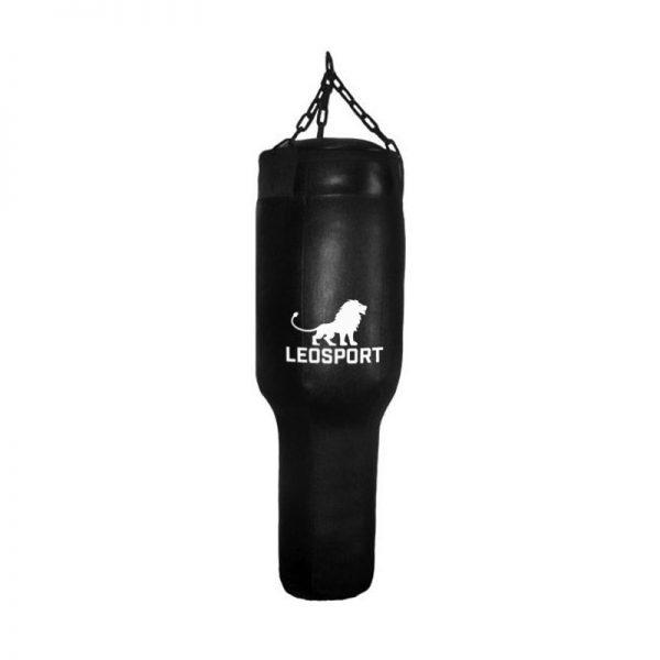 Мешок боксерский «Гильза» черный+подвесное устройство, кирза Леоспорт