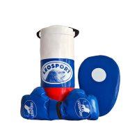 """Детский боксерский набор """"Львенок"""" Леоспорт для начинающего спортсмена мешок+перчатки+лапа №2"""